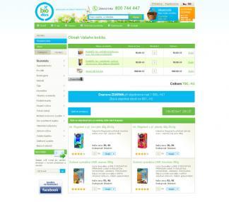 Znovuspuštění internetového obchodu s přírodními produkty a zdravou výživou