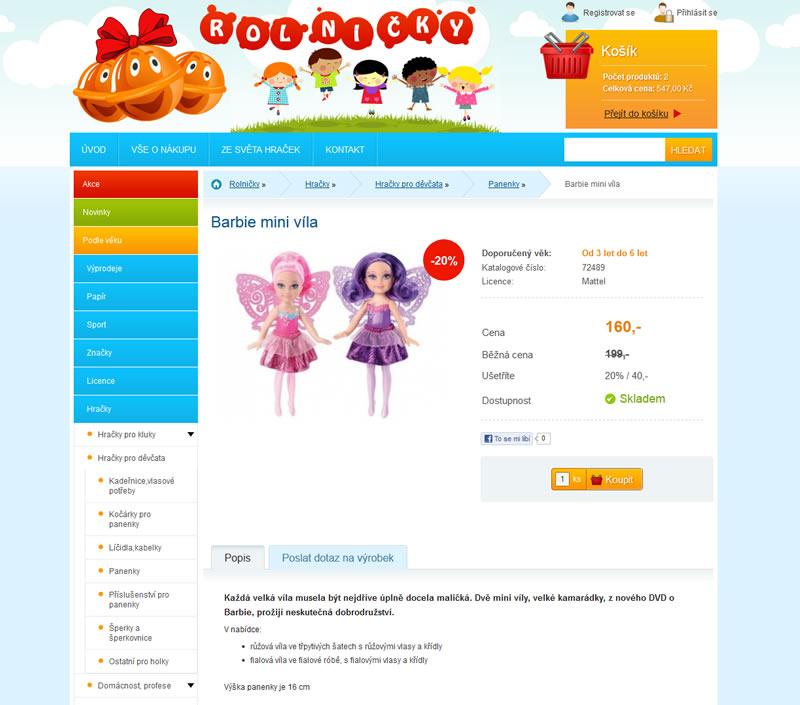 Internetový obchod s hračkami