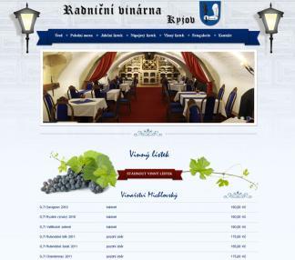 Nová webová prezentace radniční vinárny a vinotéky